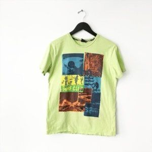 Maui and Sons Surf Club Graphic Tee Shirt Green S